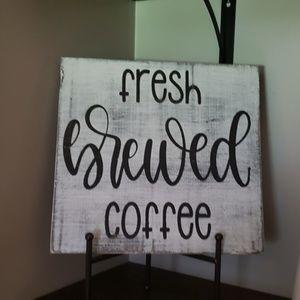 "🔥NEW🔥 ""Fresh Brewed Coffee"" Coffee Bar Sign"